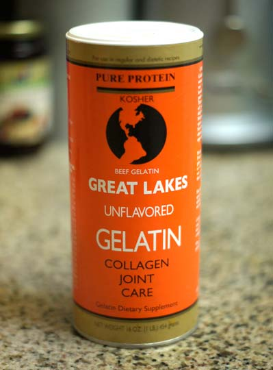 container of great lakes unflavored gelatin