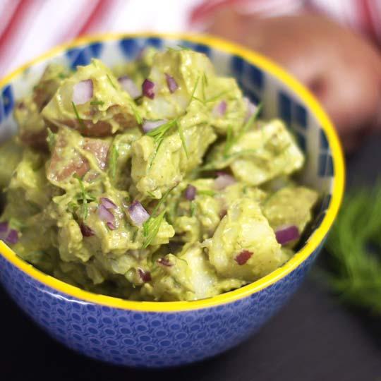 Creamy Potato Salad (Vegan) | Detoxinista