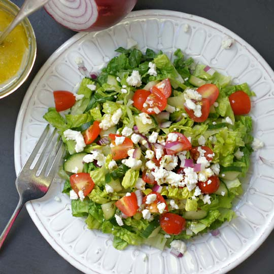 salad with classic greek dressing