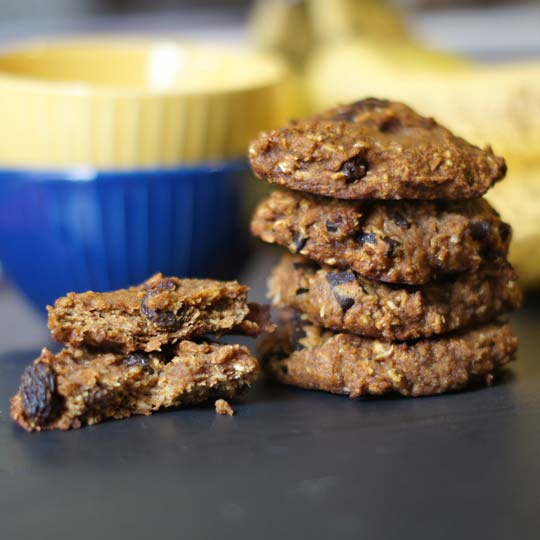 stack of harvest breakfast cookies