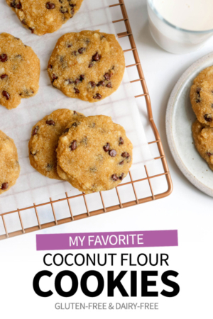 coconut flour cookies pin