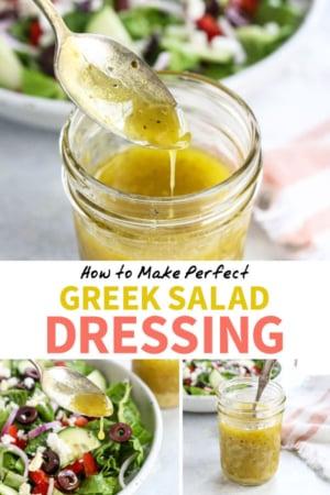 Greek salad dressing pin