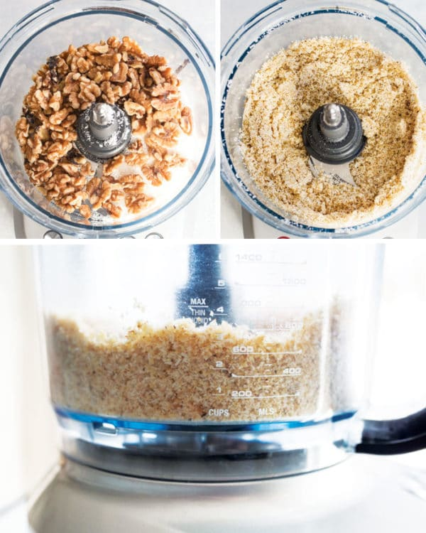 walnuts in food processor