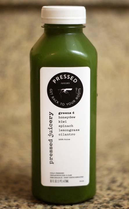 pressed juice in a bottle