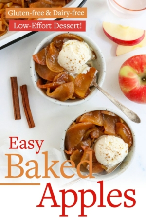 baked apples pin for pinterest