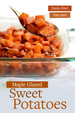 glazed sweet potato pin for pinterest