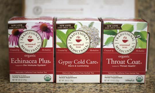traditional medicinals tea boxes