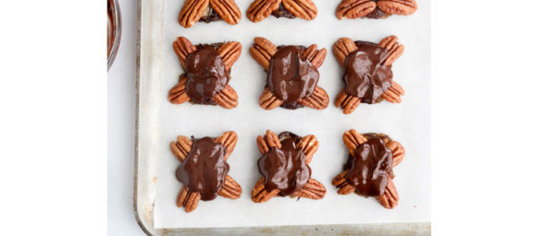 chocolate added to pecan turtles