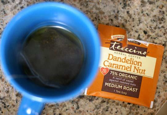 dandelion caramel nut tea