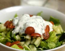 goat yogurt ranch on a salad