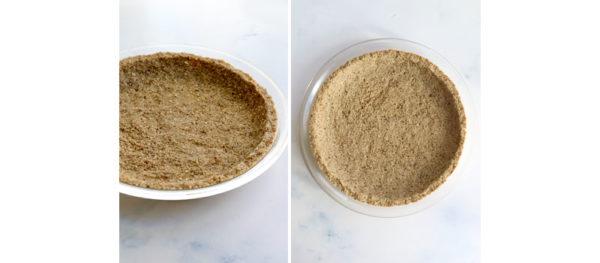 pie crust baked in pan