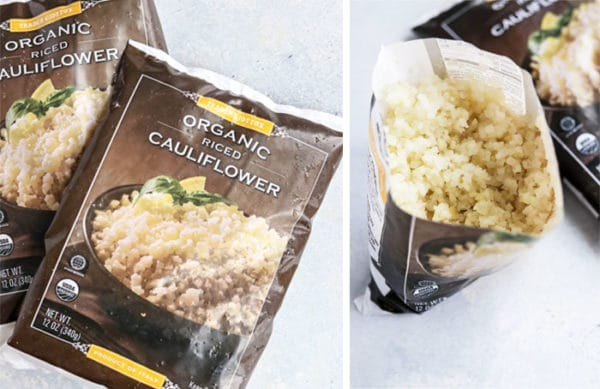 trader joe's frozen cauliflower rice bags