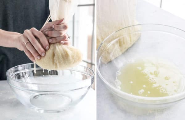 wring out moisture from cauliflower