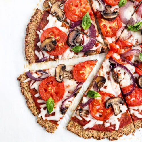 vegan cauliflower pizza crust recipe
