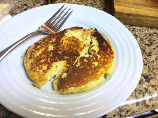 plate with a pancake