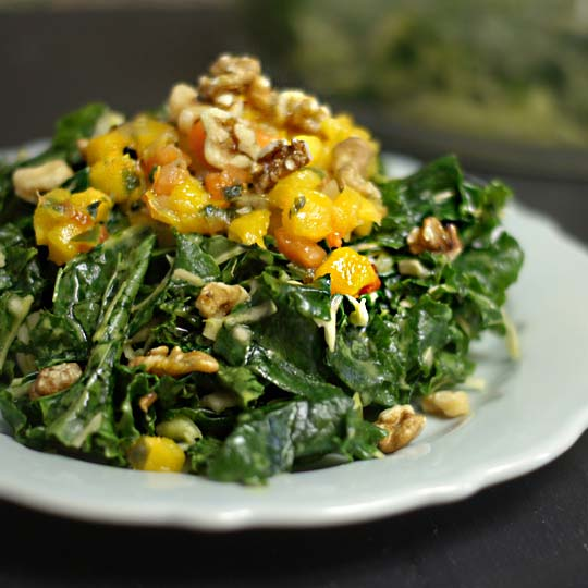 all hail kale salad on a plate