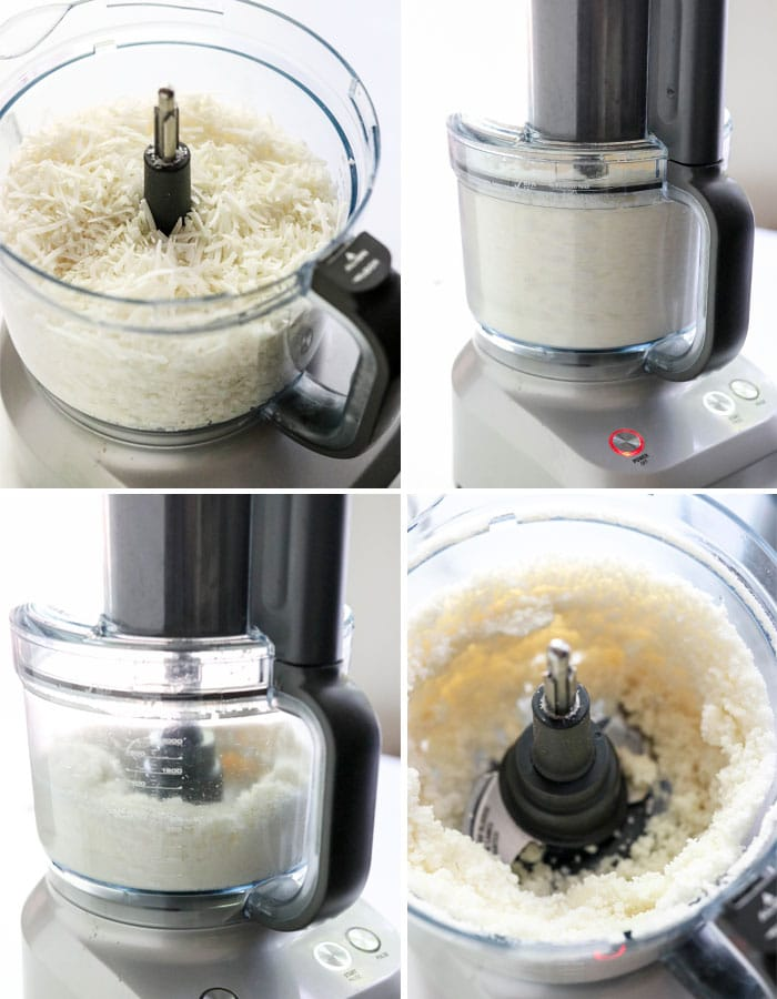 coconut butter in food processor