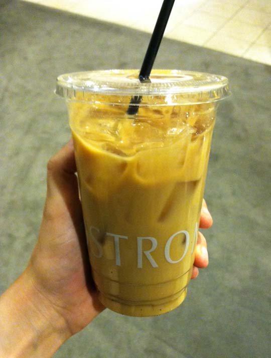 decaf almond milk iced coffee from Nordstrom's cafe