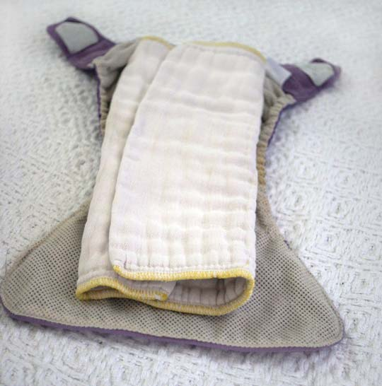 cloth diaper rolled out