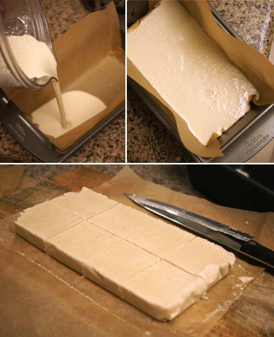 making the ice cream in a klondike bar