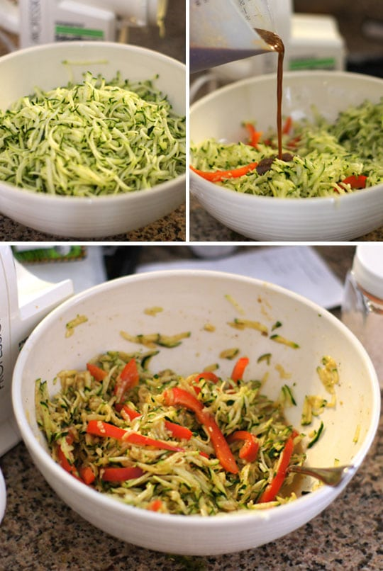 bowl of zuchinni noodles
