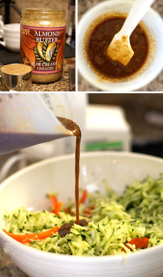 making spicy asian peanut sauce