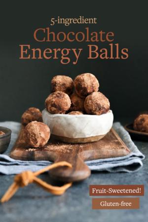 chocolate energy balls pin