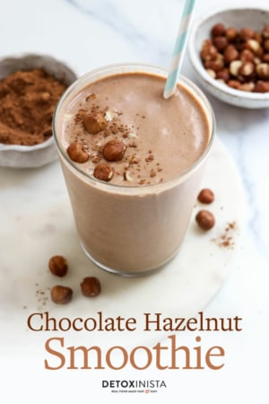 chocolate hazelnut smoothie pin