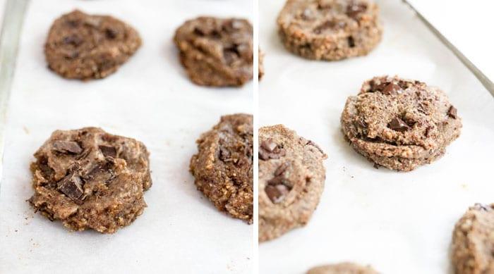 unbaked vs baked cookies
