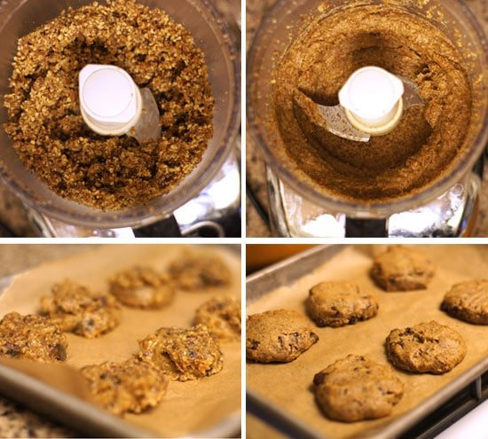 making the healthiest cookies cookie dough in a food processor
