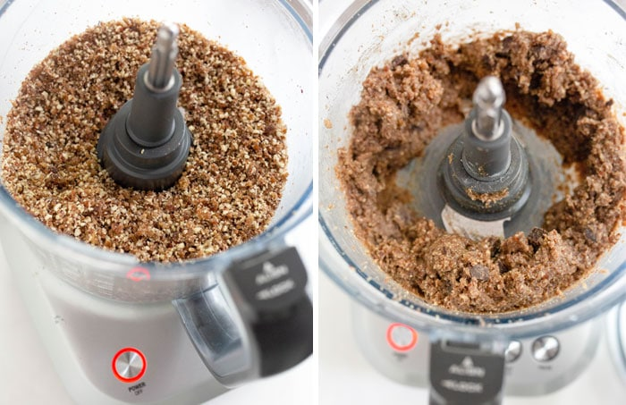 healthy cookies in a food processor