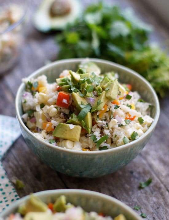 raw mexican rice bowl