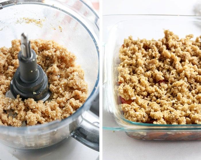 gluten free peach crisp topping