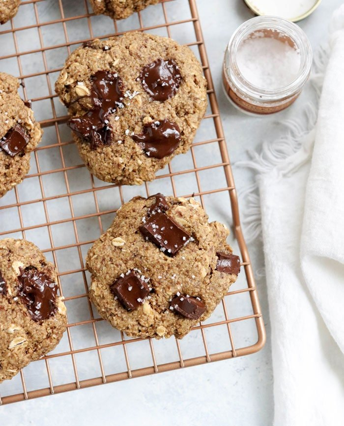 lactation cookies on a cooling rack