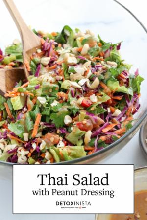 thai salad with peanut dressing pin