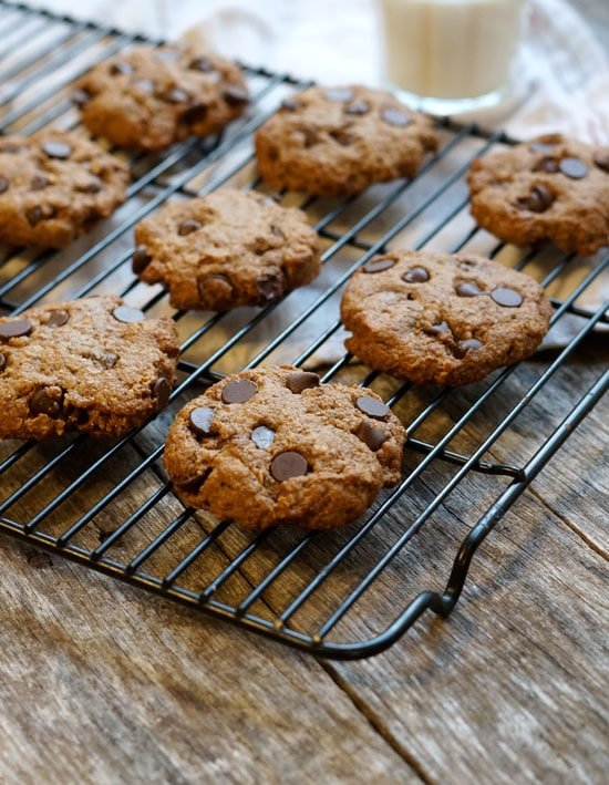 vegan lactation cookies on a cooling rack