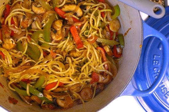 cajun zuchinni noodle pasta