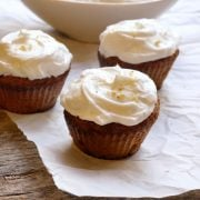 Frosted applesauce cupcakes