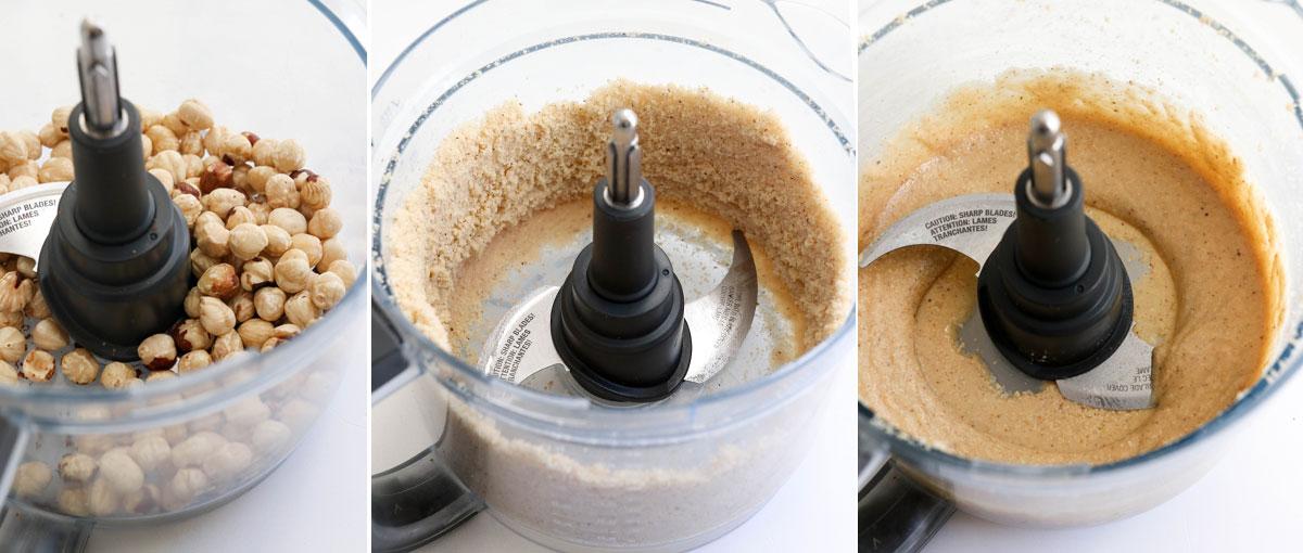 hazelnut butter in food processor