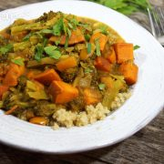pumpkin curry in a bowl