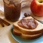 Apple butter spread on toast