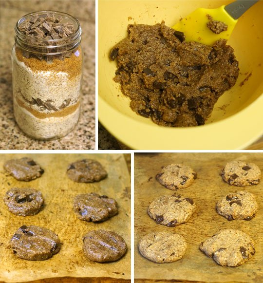preparing cookie in a jar cookies