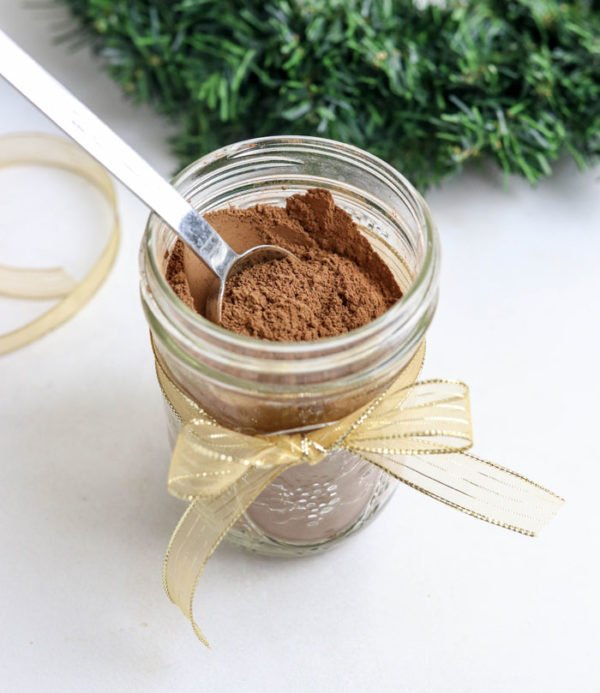 hot chocolate mix with tablespoon
