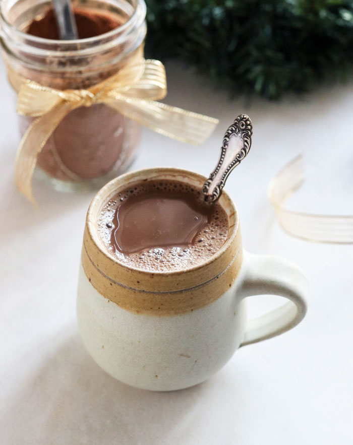 hot chocolate mix in mug
