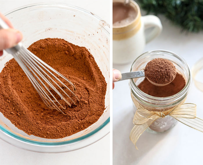 how to mix together hot chocolate