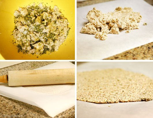 making almond pulp crackers