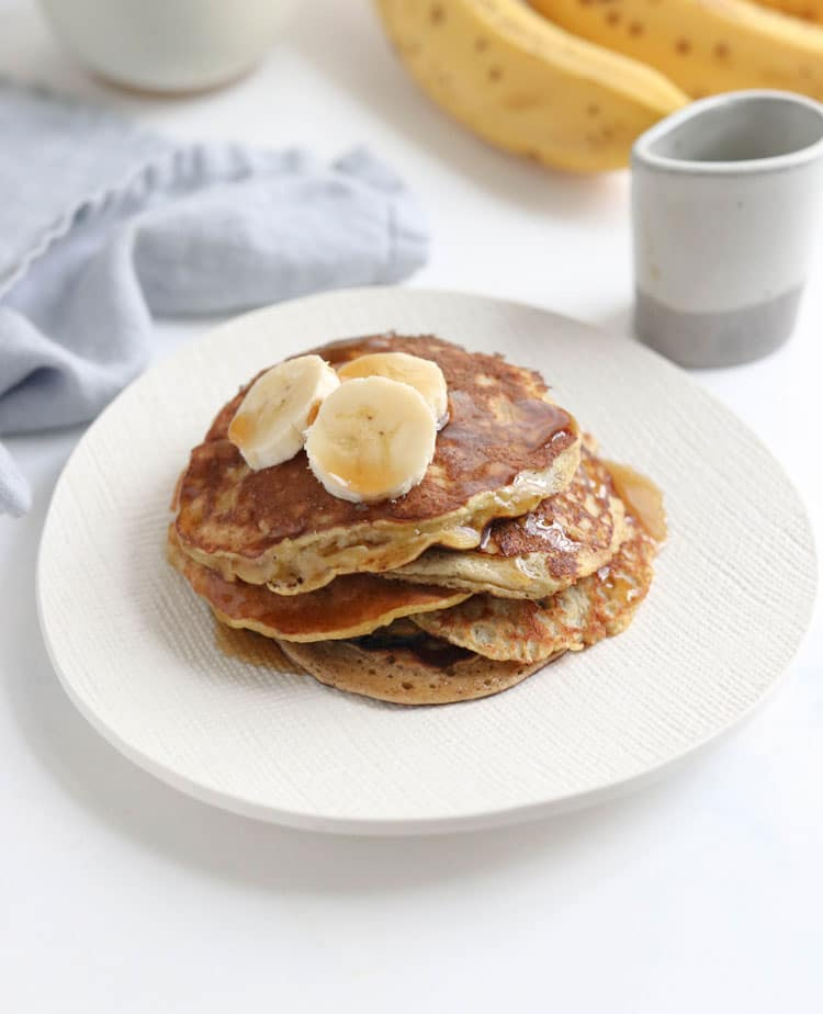 banana egg pancakes on a plate