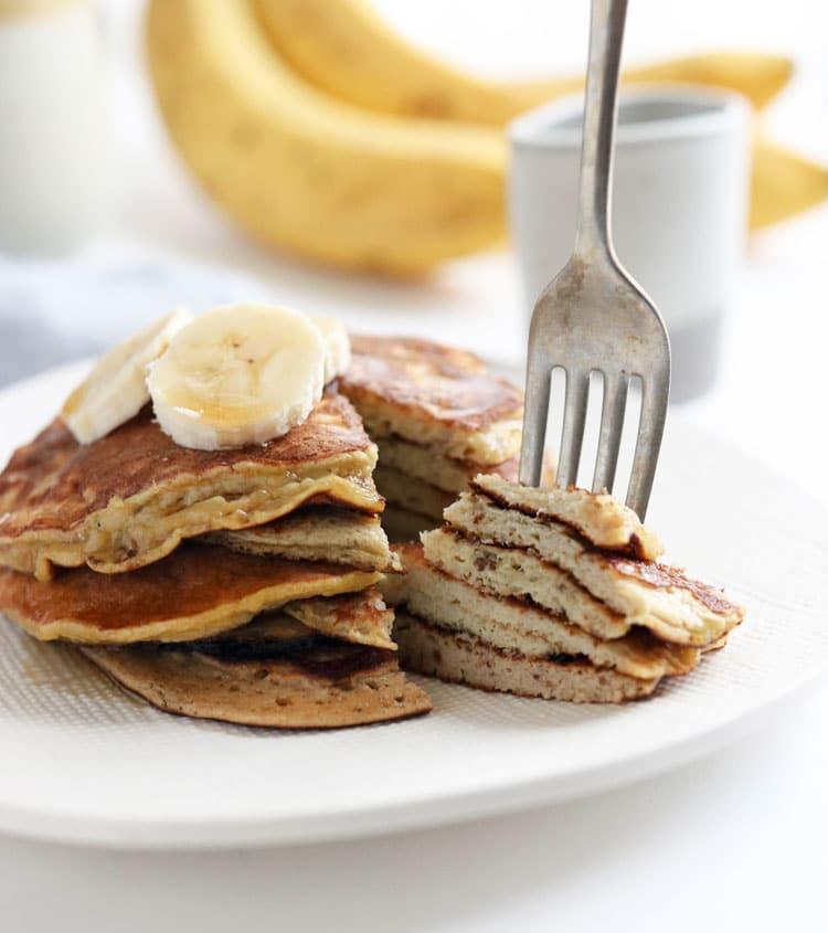 banana egg pancakes texture