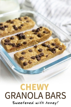 chewy peanut butter granola bars pin
