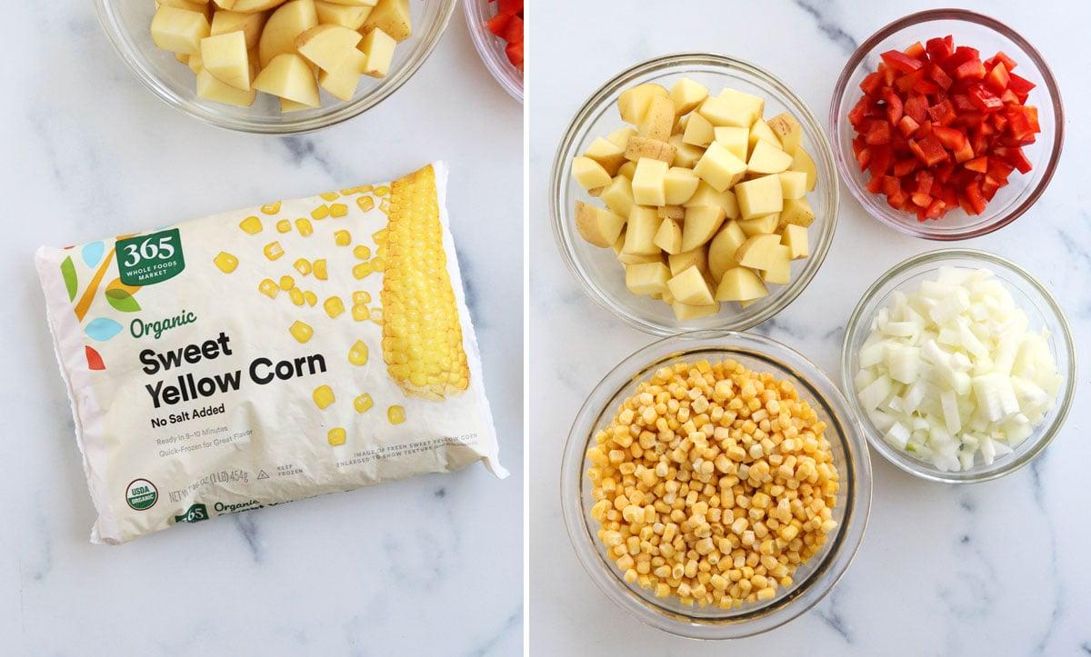 vegan corn chowder ingredients